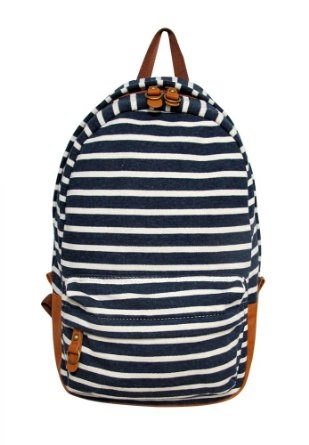 Hipster Backpack - Carrot Striped